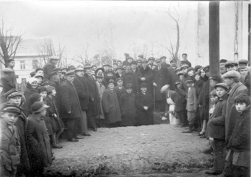Kamień węgielny pod budowę Domu Ludowego w 1928 roku