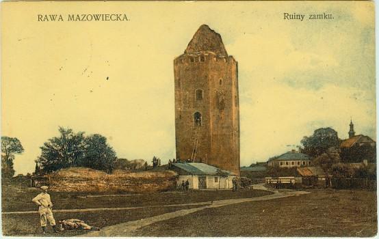 Ruiny zamku Książąt Mazowieckich – 1915 rok