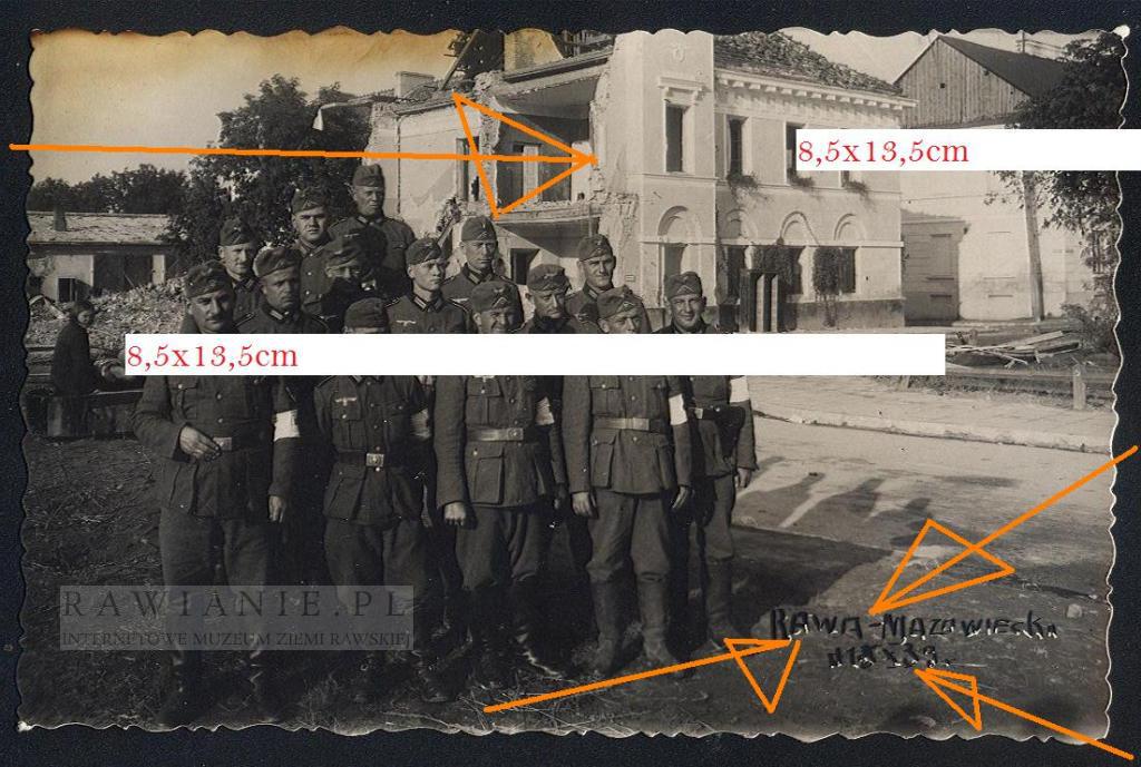 1939 rok - zniszczony Pałac Carski / Powiat