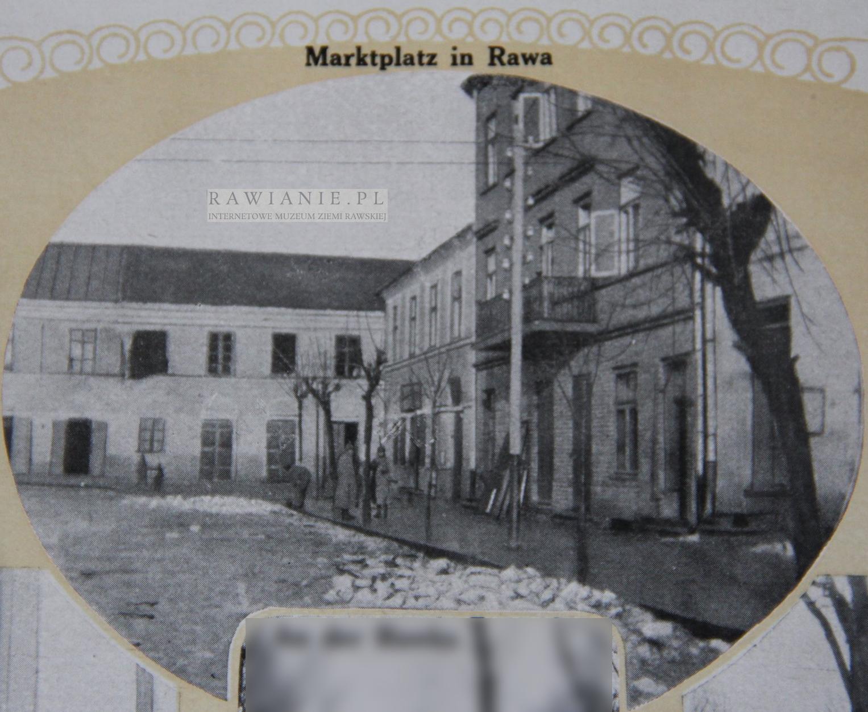 1914-1916 - Rynek / Marketplatz in Rawa