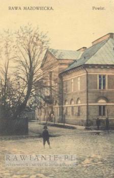 Pałac Carski / Powiat - widok od ul. Wyszyńskiego (lata 20-te)