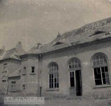 Huragan 1958 rok - Szkoła Podstawowa - sala gimnastyczna
