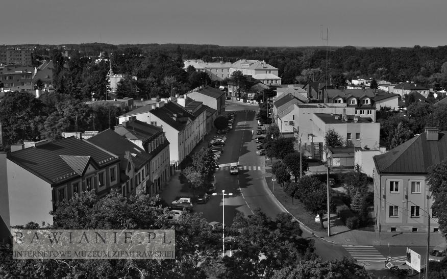 Wczoraj i dziś: ulica Kościuszki - widok z wieży strażackiej 1958/2013