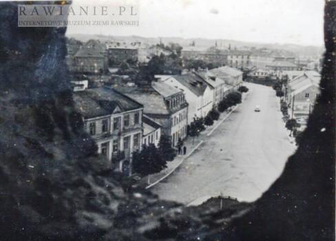 Ulica Kościuszki - widok z wieży strażackiej, lata 50-te