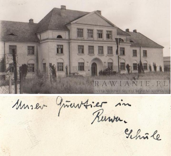 II WŚ - kwatera niemiecka w budynku Szkoły Podstawowej
